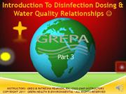 Online Drinking Water Disinfection Module Part 3
