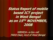 Status report on m-Govt pilot project