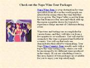 check out the napa wine tour packages