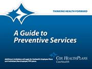 chp understanding your preventive services 2011