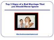 Top 3 Signs of a Bad Marriage That you Should Never Ignore