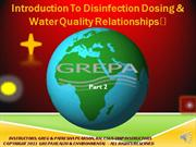 Disinfection Online Part 2 Recorded