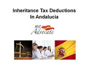 Inheritance Tax Deductions in Andalucia