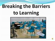 UDL Breaking the Barriers to Learning