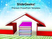 EDUCATION BOOK AND THE HOUSE EDUCATION PPT TEMPLATE