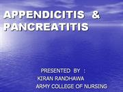 appendicitis and pancreatitis