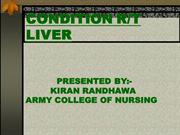 conditions related to liver