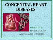 congenital heart diseases