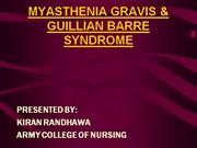 myasthenia gravis and GBS