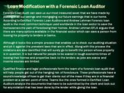 Loan Modification with a Forensic Loan Auditor