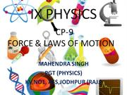cp-9 force and laws of motion for IX