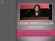 Luchie Mendoza Allen: Champion of Honesty