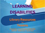 Test Strabala Learning Disabilities Mini Lecture