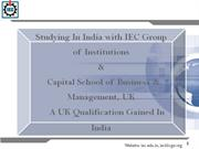 Studying In India with IEC Group of Institutions