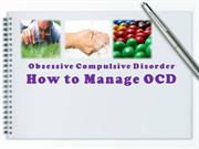Managing Obsessive Compulsive Disorder