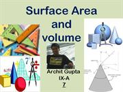 surface area and volumes