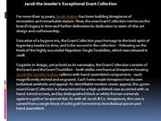 Jacob the jeweler grant collection