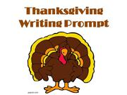Thanksgiving Writing Prompt Idea