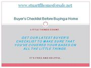 Buyer's Checklist Before Buying a Home