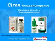 Pharmaceutical Injectables By Ciron Drugs And Pharmaceuticals Private