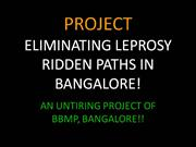 leprosy ridden paths of Bangalore