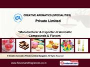 Flavours & Fragrances By Creative Aromatics Private Limited, Bangalore