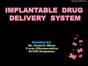 Implantable drug delivery system