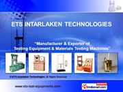 Wood Testing Equipment By Ets Intarlaken Technologies Kolkata