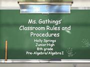 ms. g's classroom rules and procedures