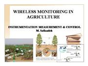 WIRELESS MONITORING IN AGRICULTURE