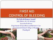control of bleeding and first aid
