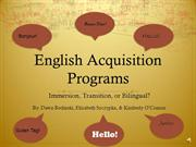 English Acqusition Programs Final