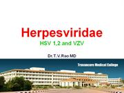 Herpes viridae HSV 1,2 and VZV