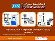 Brinell Hardness Testing Machines By Fine Spavy Associates Miraj