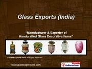 Glass Lamps & Lanterns By Glass Exports India Firozabad