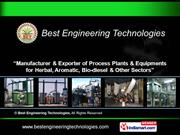Bio-Diesel Plant By Best Engineering Technologies Hyderabad