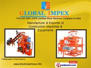Concrete Block Making Machines Stationary By Global Impex Coimbatore