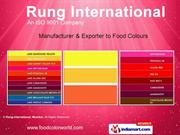 Blended Food Colors By Rung International, Mumbai Mumbai