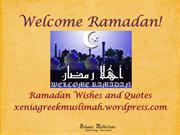 Welcome Ramadan-Ramadan Wishes and Quotes