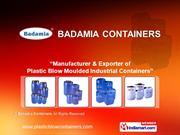 Blow Molded Containers By Badamia Containers Mumbai