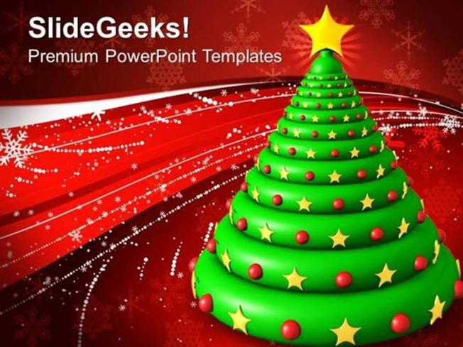 Church Christmas Tree Abstract Background Ppt Template Powerpoint