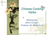 Chinese cooking herbs( top 3)