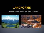 LANDFORMS