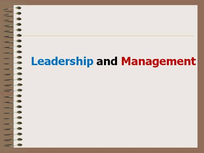 Presentation on leadership and management