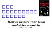 THE INNOVATIVE LEADER-How to inspire your team and drive creativity
