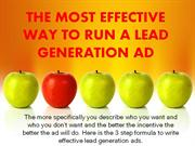 THE MOST EFFECTIVE WAY TO RUN A LEAD GENERATION AD