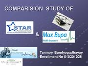COMPARISION STUDY OF STAR HEALTH   INSURANCE