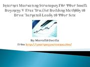 Internet Marketing Strategies For Your Small Business