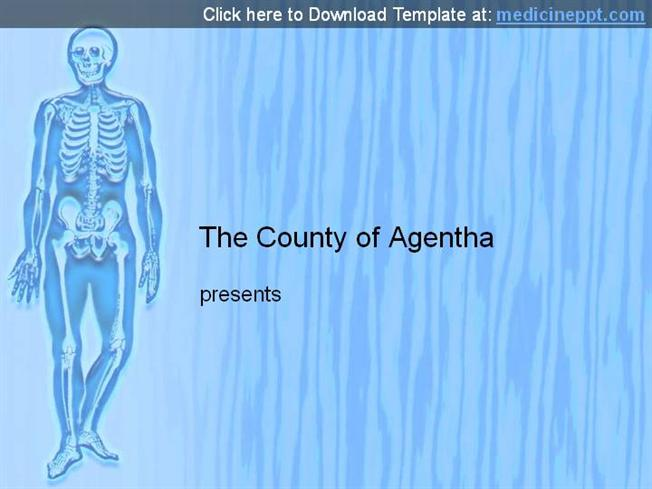 free human skeleton powerpoint template |authorstream, Modern powerpoint