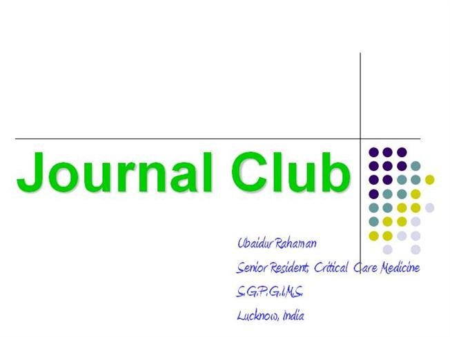 Journal Club |authorSTREAM